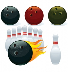 Ball and pin bowling vector