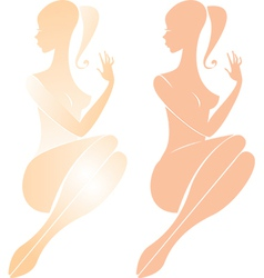 Beautiful nude female figure vector
