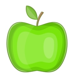 Big green apple icon cartoon style vector image