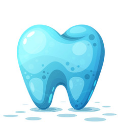 cartoon tooth on the white background vector image