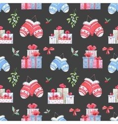 Christmas new year pattern vector