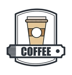coffee house shop isolated icon vector image