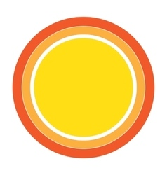 Colorful Sun icon design element vector
