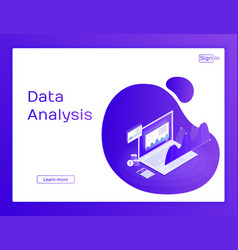 Concept website business strategy analysis data vector