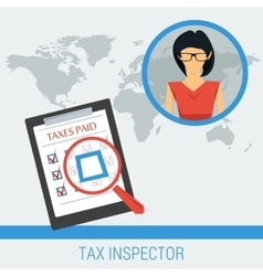 Concept work of tax inspector vector