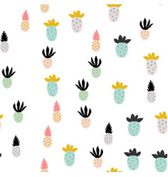 different abstract pineapples vector image