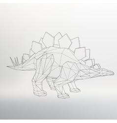 Dinosaur model Polygon vector