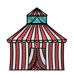 Doodle circus entertainment carnival party vector