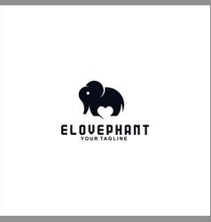 elephant logo design template concept vector image
