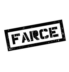Farce rubber stamp vector image