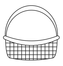 Farm basket icon outline style vector