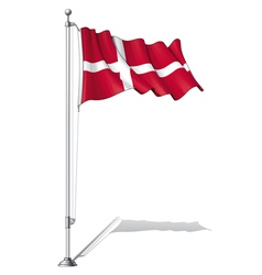 Flag Pole Denmark vector image