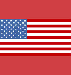 flag usa or american flag american colorful vector image