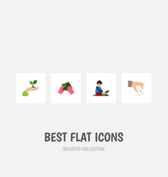 Flat icon sow set of florist sow care and other vector