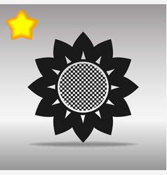 flower black icon button logo symbol concept vector image