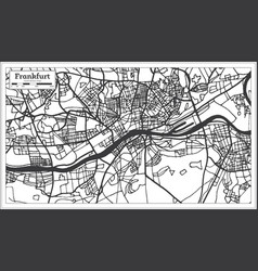 Frankfurt germany city map in retro style outline vector