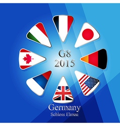G8 summit infographic vector