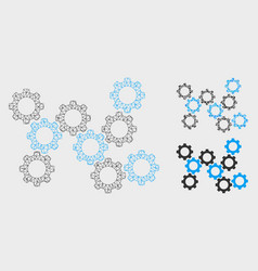 Gears mesh carcass model and triangle vector