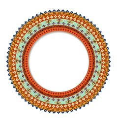 Geometric decorative rosette in the Mexican style vector