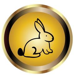 Gold seal rabbit vector