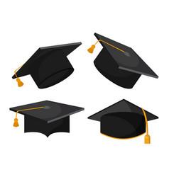 Graduation cap graduate university icon vector