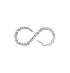 Hand drawn watercolor swirl infinity sign stock vector