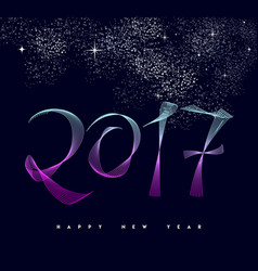 Happy new year 2017 modern numbers greeting card vector