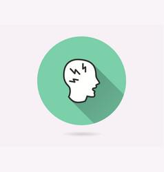 headache icon for graphic and web design vector image