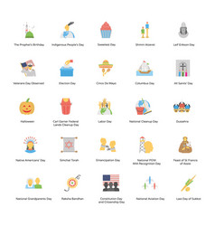 Holiday icons pack vector
