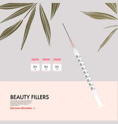 hyaluronic acid beauty injections beauty vector image