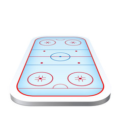 Ice hockey playground arena 3d icon vector