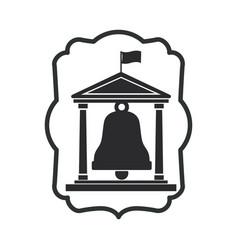 Isolated bell of school design vector