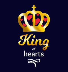 king of hearts ilustration vector image