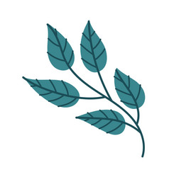 Leaf plant nature free form style icon vector