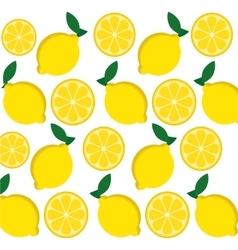 Lemon fruits background design vector