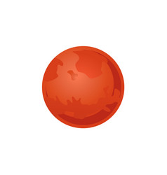 mars red planet of solar system in flat style vector image