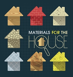 Materials for the House vector image