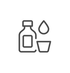 Medicine bottle line icon vector