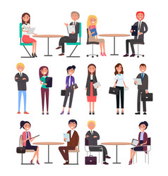 Meeting of business people vector