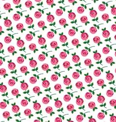mod rose allover pattern vector image