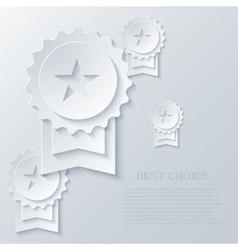 modern award light background vector image