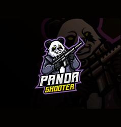 panda mascot sport logo design vector image