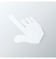 Paper Hand Cursor in Perspective vector image