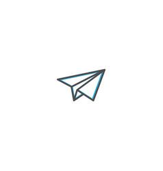paper plane icon design essential icon vector image