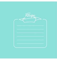 Recipe card with banner vector image