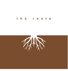 roots graphic design template vector image