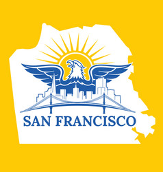 san francisco map color vector image