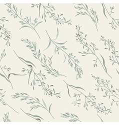 seamless floral pattern with herbs vector image