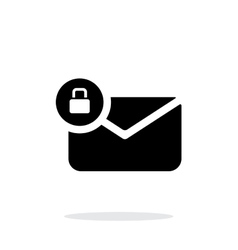 Secure mail icon on white background vector