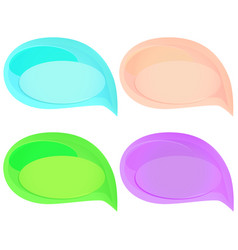 set of cute colorful speech bubbles vector image